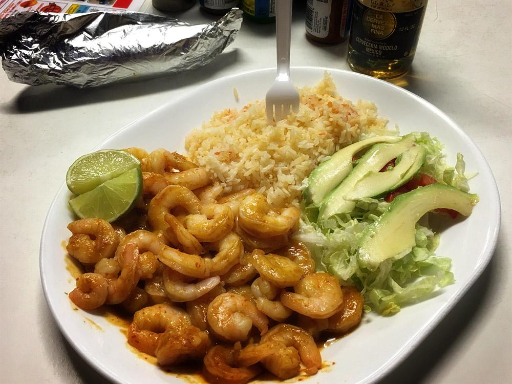 Spicy Shrimp Dinner