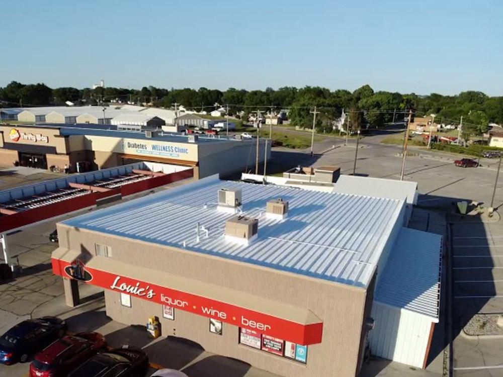Northeast Nebraska Energy Systems, Inc. Louie's Liquor Roof Coating project in Norfolk, Nebraska