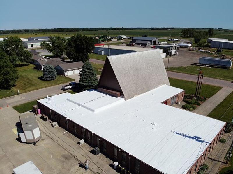 Northeast Nebraska Energy Systems, Inc. Commercial Roof spray foam project - NENES, Inc. - Pender, Nebraska