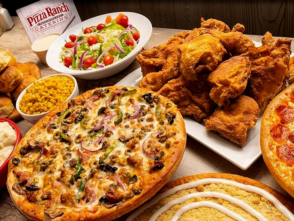 Pizza Ranch Pizza, Chicken, Salad, and Sides