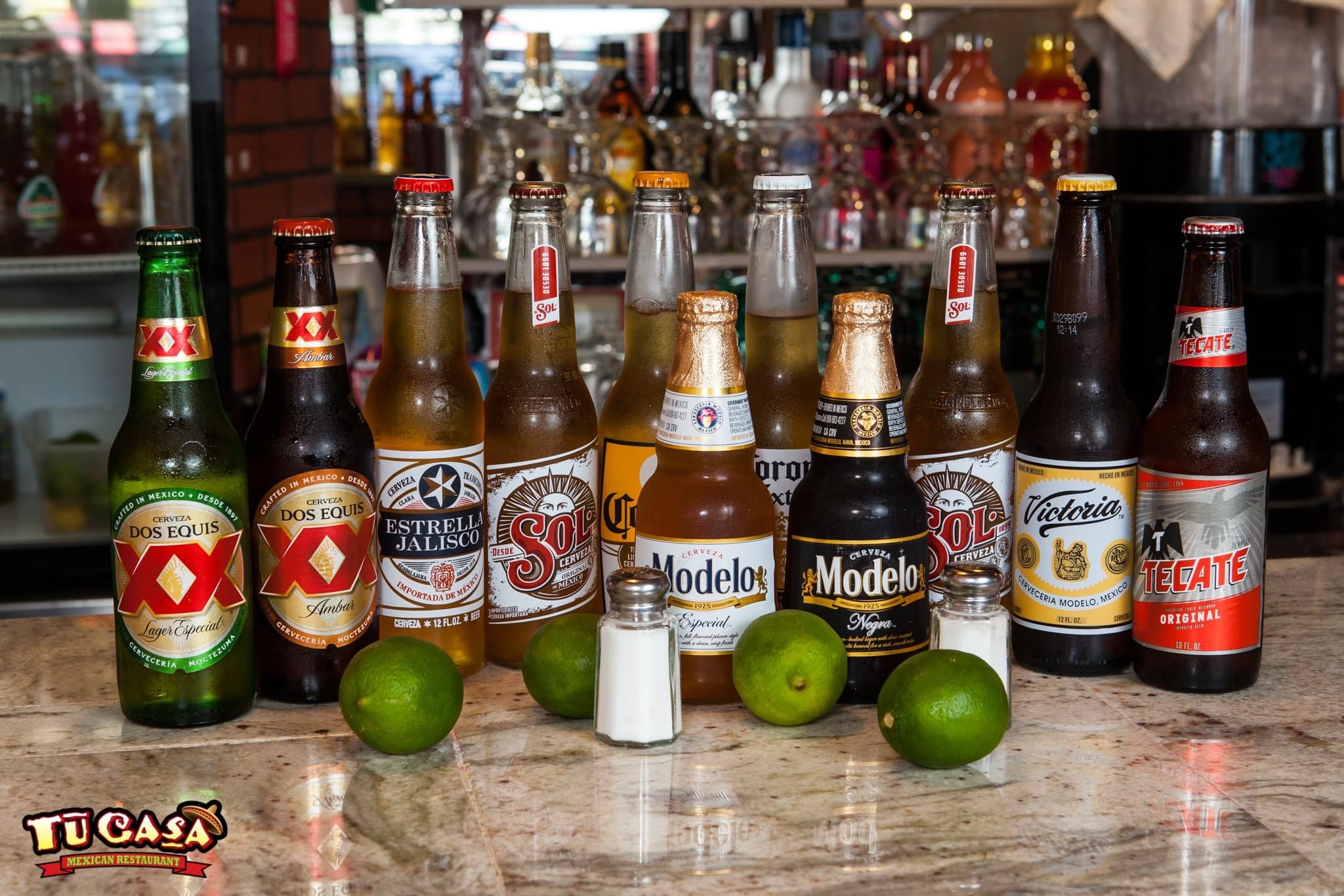 Tu Casa Mexican Restaurant We have a large variety of beer!