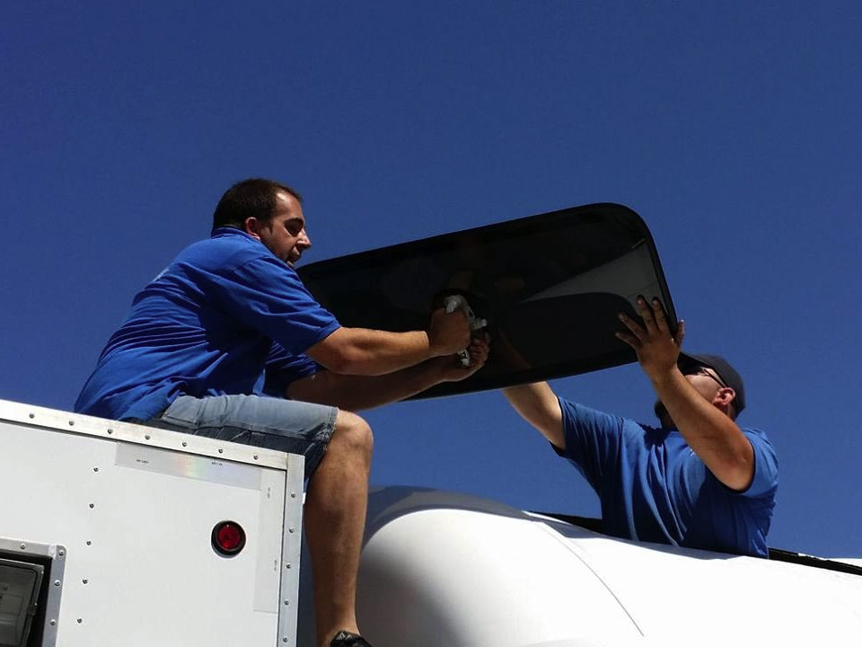 The Windshield Doctors Sunroof installation